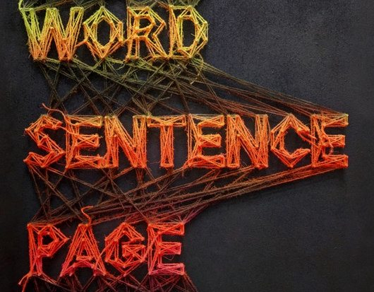 Letter Word Sentence Page Purely Gestalt