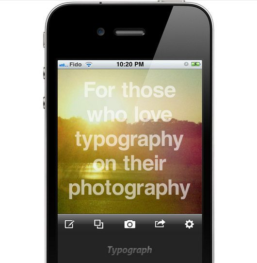 Typograph iPhone App by Tom Weznerowicz