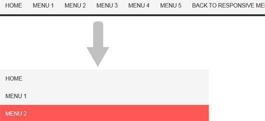 CSS3 Responsive menu