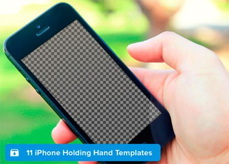 iPhone Holding Hand Templates by Jackie Tran Anh