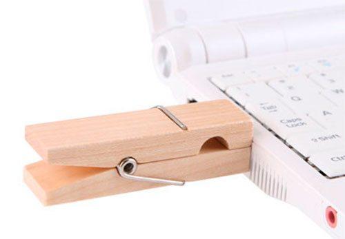 Clothespin USB Drive
