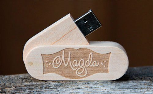 Personalized Wood USB Flash Drive