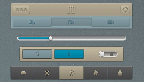 app ui free psd by Martin David