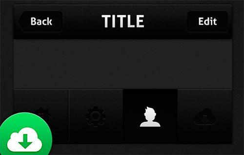 Dark iPhone UI (Free template) by MediaLoot