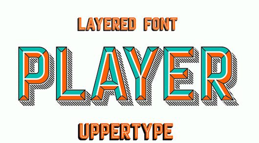 Player layered font by UPPERTYPE