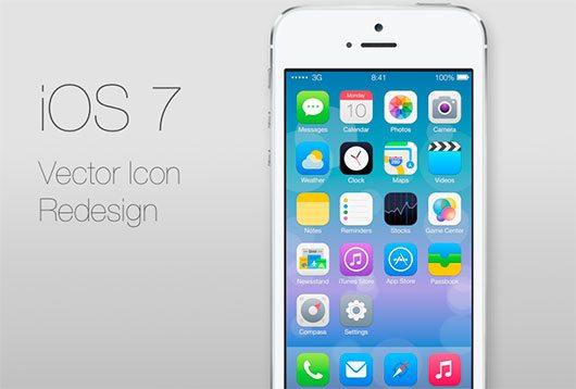 iOS 7 icons redesign by Ida Swarczewskaja
