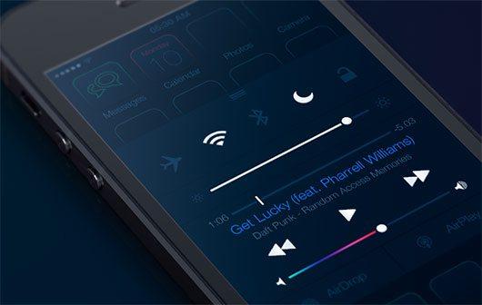 iOS7 - Dark Theme by Huig van der Waal