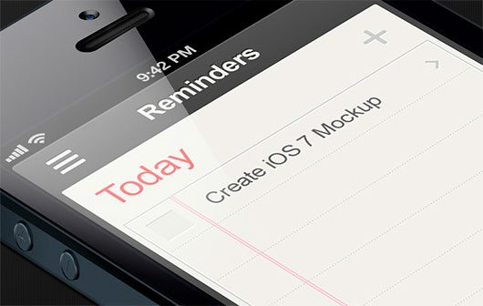 iOS7 Concept - Reminders by Dan Lebowitz