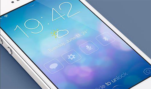 iOS7 Redesign - Lock screen (@2x) by Mariusz