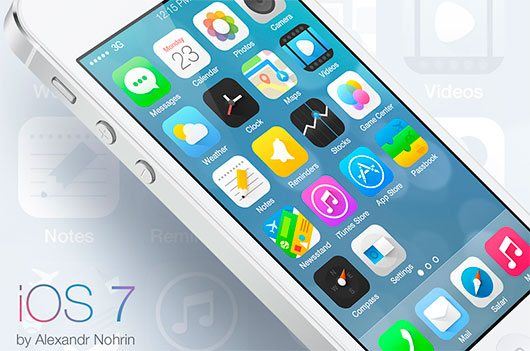 iOS 7 icons by Alexandr Nohrin