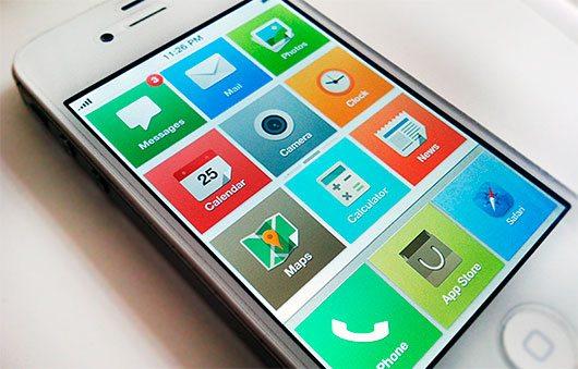 iOS 7 home concept by John Menard