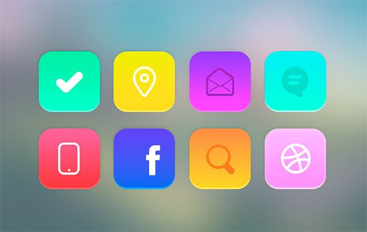 Flat iOS7 Icons by Alex S. Lakas