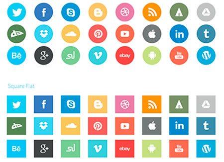 Flat-Social-Icons by slayerD1