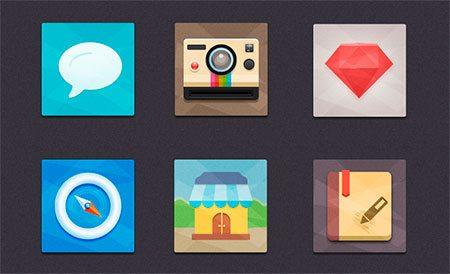 Flat Icons Freebie by Seevi