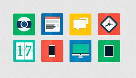 Flat Icons by Alberto