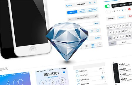 iOS 7 UI Kit (.sketch) by Sketch Gems