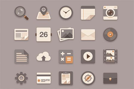 Flat Icons Brownie Theme by Sunbzy