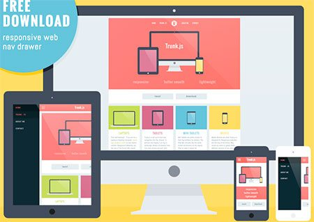 Responsive layout with Navigation Drawer by Rob Luke