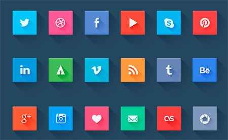 Social icons - freebie by Pierre Borodin