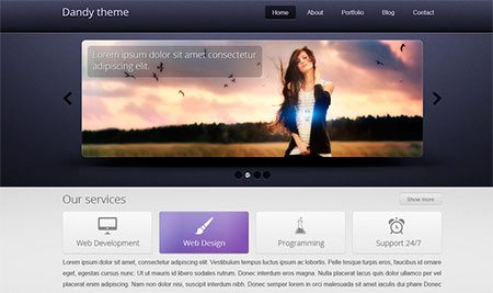 Dandy PSD Template