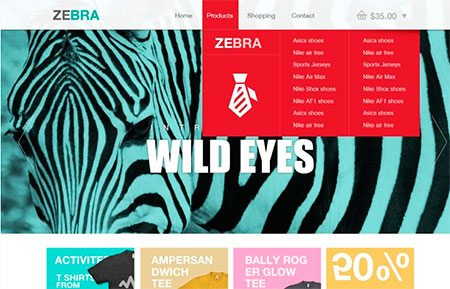 Zebra – Ecommerce Website Template PSD