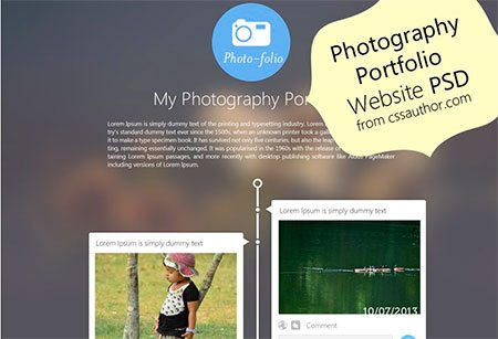 Photography Portfolio Website Template Design
