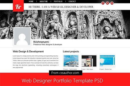 Web Designer Portfolio Template PSD
