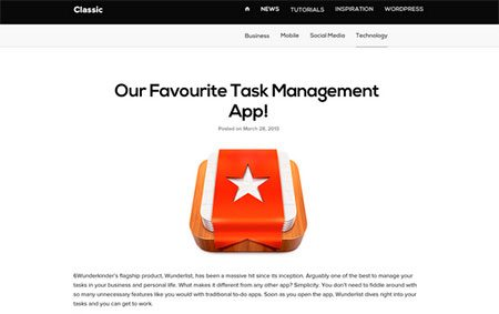 Classic – Free Blog Template