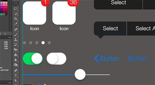 iOS 7 iPhone by Geoff Teehan