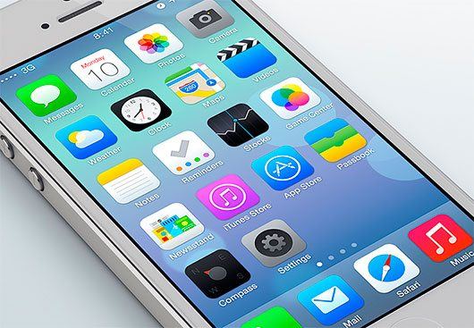 iOS 7 Redesign by Leo Drapeau