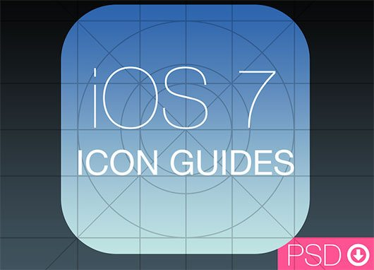 iOS 7 Icon Guides PSD by Alexander Obenauer