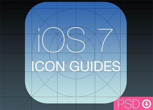 iOS 7 Icon Guides PSD by Alexander Obenauer
