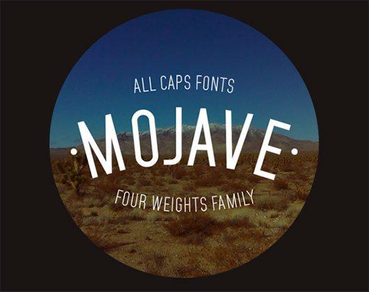 Mojave Typeface by Gumpita Rahayu