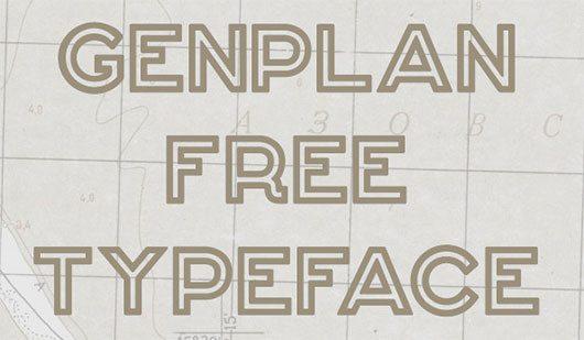 Genplan Typeface by Dmitry Goloub