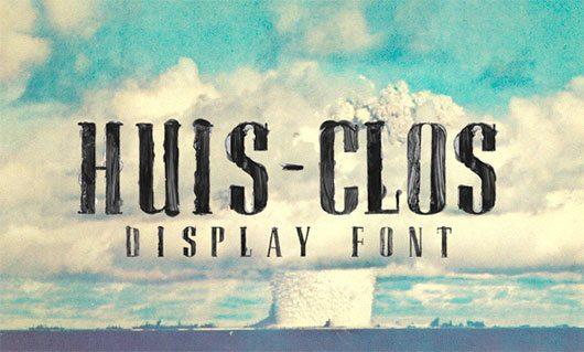 HUIS-CLOS free font by lucien marandola