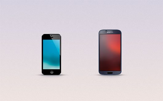 Mini iPhone and Galaxy S4 Freebie by Blake Reary