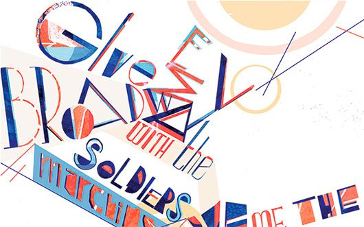 Liberated Typography by Poppy Reid
