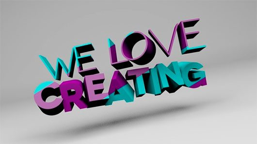 We love creating by Samuel Parra Pulido