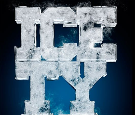 Ice typography by Txaber