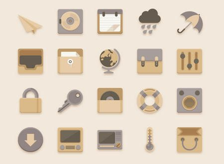 Flat Icons Vanilla Choc Chip Theme by Sunbzy