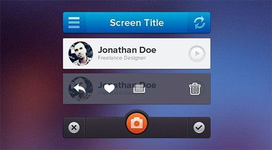 iPhone UI by Ionut Zamfir