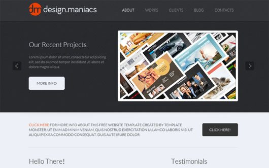 Free Website Template for Design Studio