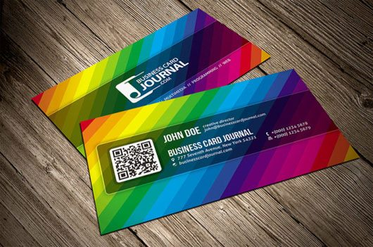 Creative Color Spectrum Business Card Template