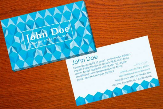 Polygonal Business Card PSD Template