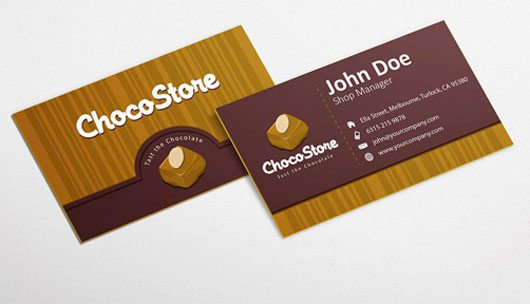 Chocolate Business Card Design Template by GraphicsParty