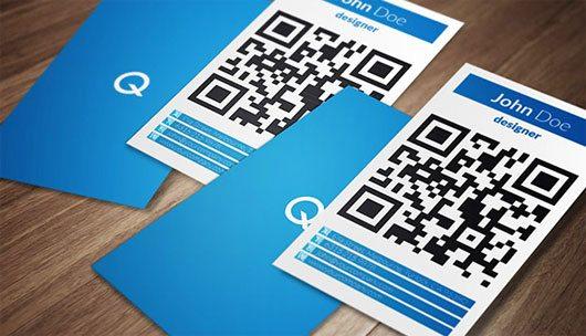 Big QR Code Business Card
