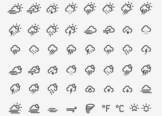 Weather Icon Font by Edgar
