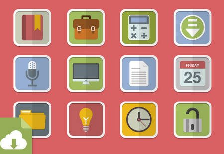 Flat Vector Icons by MediaLoot