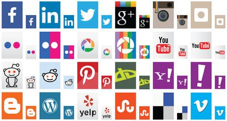 Social Media Icons by Onlinebyrån