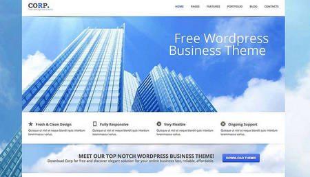 CORP responsive WordPress theme